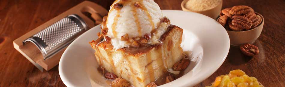 Bread Pudding with Ice Cream